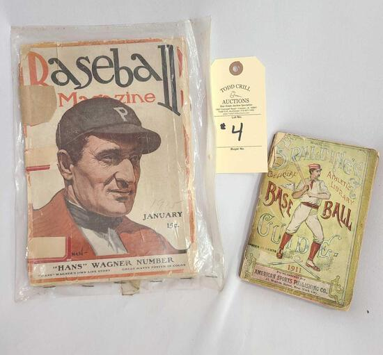 1911 SPALDINGS BASEBALL GUIDE AND 1915 BASEBALL MAGAZINE