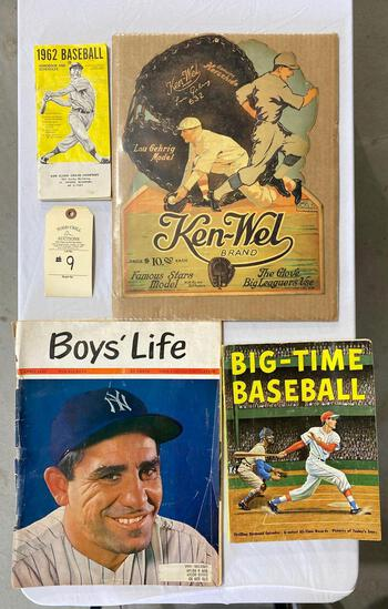 BASEBALL MEMORABILIA AND ADVERTISING