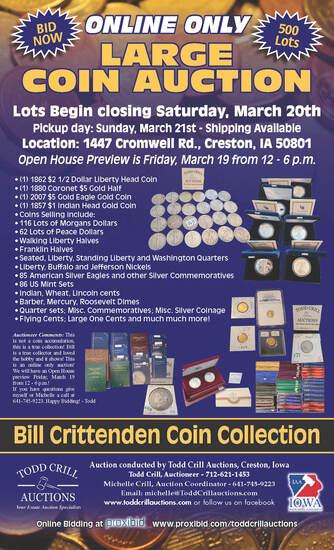 BILL CRITTENDEN COIN COLLECTION AUCTION