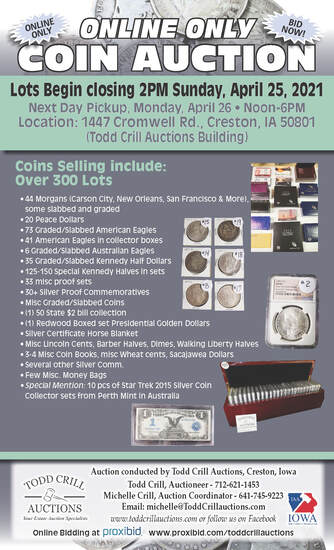 300 + LOTS ONLINE ONLY COINS AUCTION
