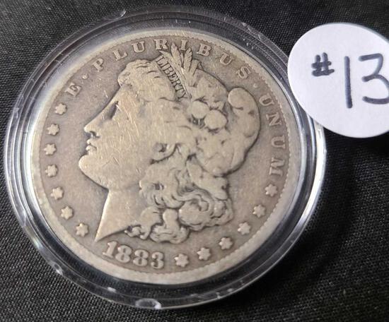 1883-CC MORGAN SILVER DOLLAR