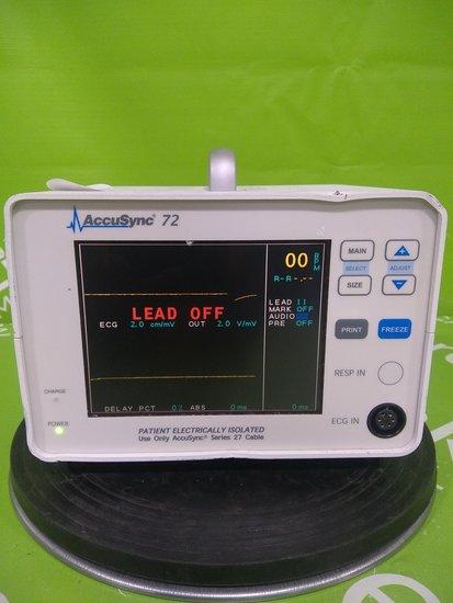 Accusync Medical Research Corp 72 ECG TRIGGER MONITOR - 53674