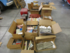 (23) HD GAS TANKS, TOUR PACK, PEWTER COLLECTIBLE TRAINS, GLASS GLOBES, MANU