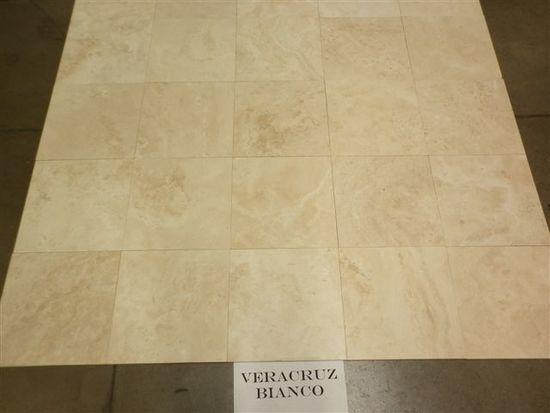 "Bianco 12""x12"" Pallet Of Floor Stone: Multi Use Floor Stone Marble Limestone Pallet"