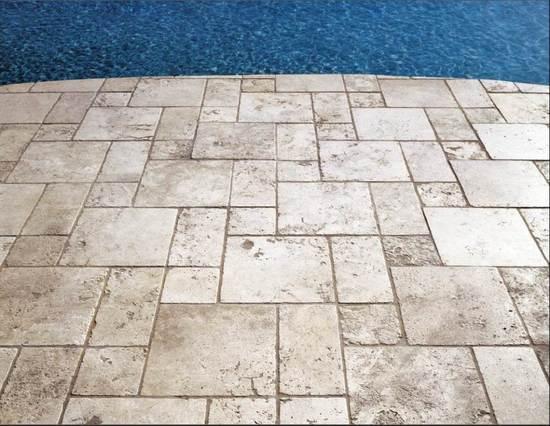 """4""""x4"""" Marble Limestone Pool Tile"""