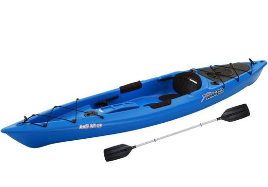 Sun Dolphin Bali 12' Sit-on Recreational Kayak Blue, Paddle Included