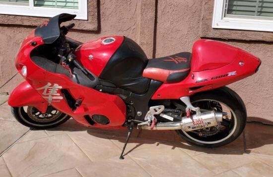 2004 Suzuki GSX1300R Motorcycle, VIN # JS1GW71A142104921