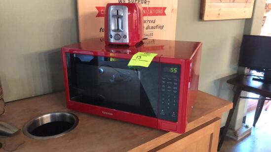 Kenmore Microwave W/ Black&Decker Toaster