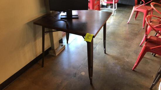 "32"" Square Metal Table"