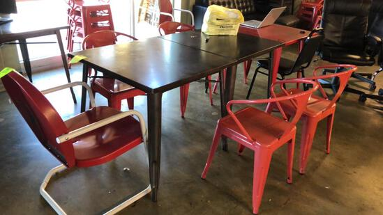 "32"" Square Metal Tables"