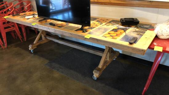Florida Oranges Conference Table On Casters