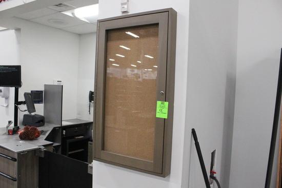 Locking Bulletin Board