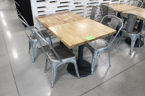 Two Tables W/ Four Chairs