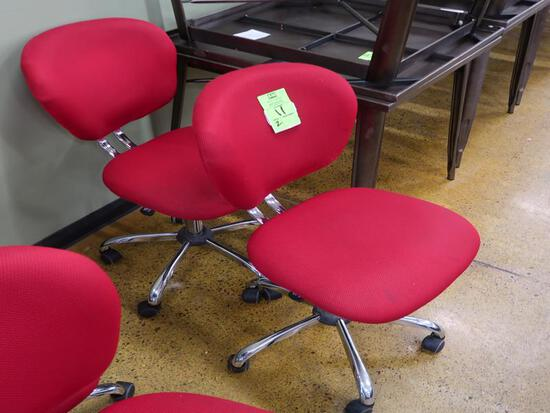 office chairs, red