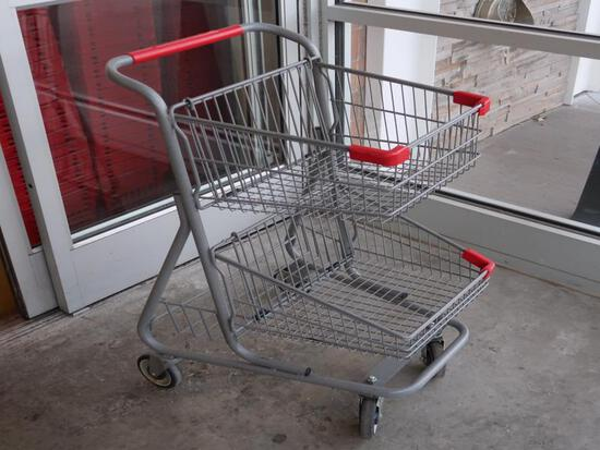 shopping carts, two tier