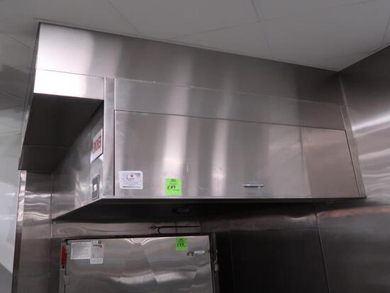 CaptiveAire exhaust hood w/makeup air & fire supression