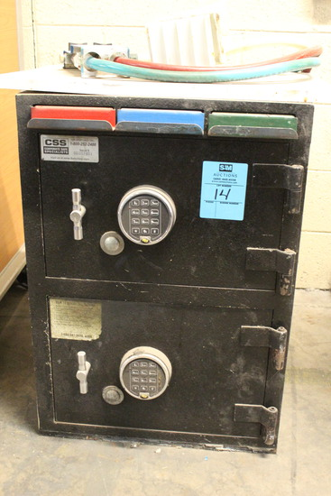 CSS Dual Compartment Safe W/ Digital Pads