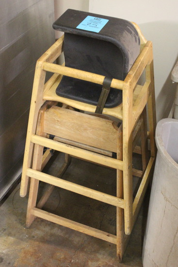 (2) High Chairs W/ Booster Seat