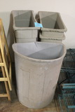 Assorted Plastic Trash Cans