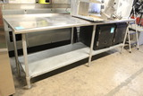 8' Stainless Steel Table