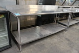 7' Stainless Steel Table W/ Undershelf