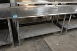 5' Stainless Steel Table W/ Undershelf