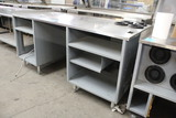 Duke 6' Stainless Top Table W/ Cup Dispensers