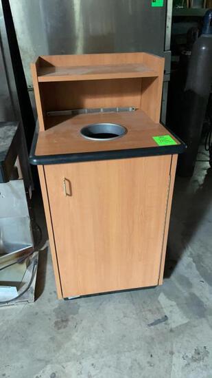 Wood waste receptacle