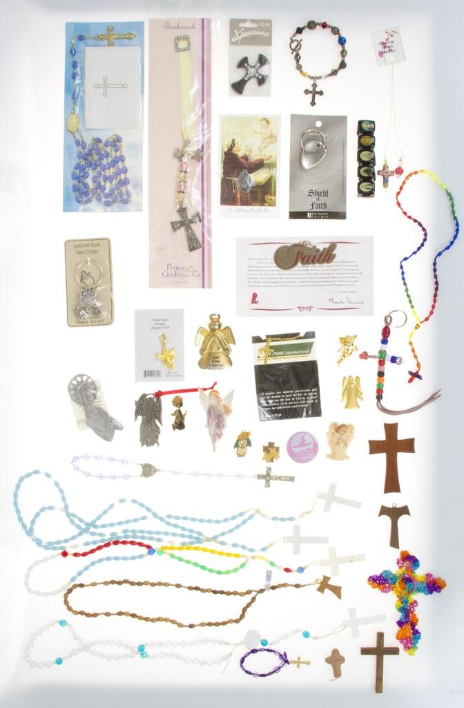Lot: Huge Lot of Religious Catholic Christian Items - Rosary