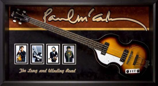 Paul McCartney Hoffner Signed and Framed Guitar