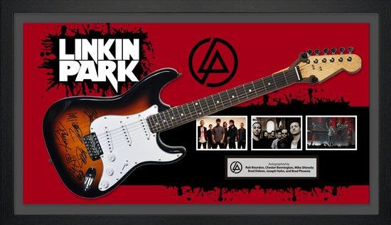 Linkin Park Signed and Framed Guitar