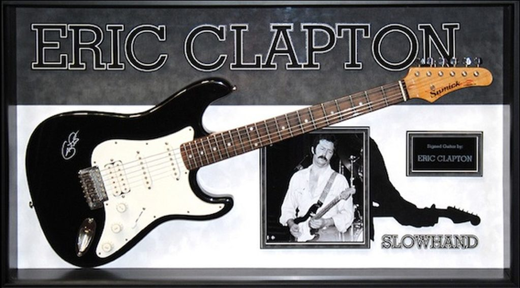 Eric Clapton Signed and Framed Guitar - Slow hand