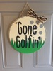 Gone Golfin Door Hang