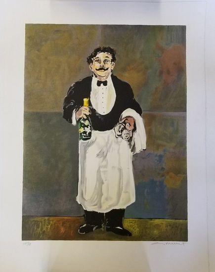 Pleasing Guy Buffet Le Sommelier Limited Edition Signed Artist Download Free Architecture Designs Scobabritishbridgeorg