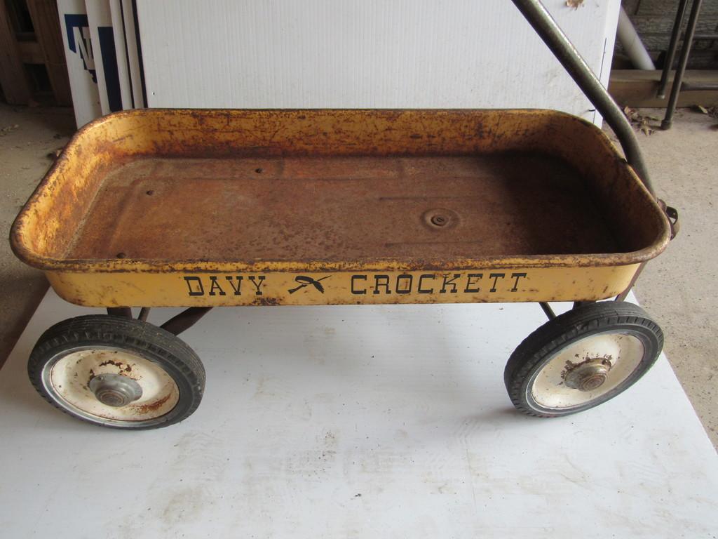 DAVY CROCKET LARGE WAGON (NICE ORIGINAL)
