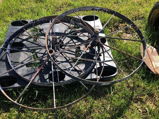 Large steel wheels