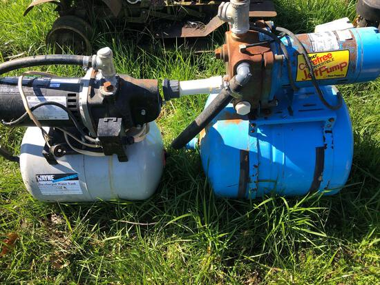Water pumps and tanks