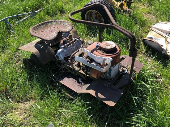 Vintage Homelite riding mower