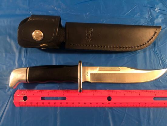 Buck knife with sheath