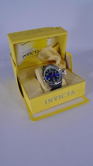 Invicta Russian Diver Watch #6610 Blue Green In Box with Book and Cleaning Cloth