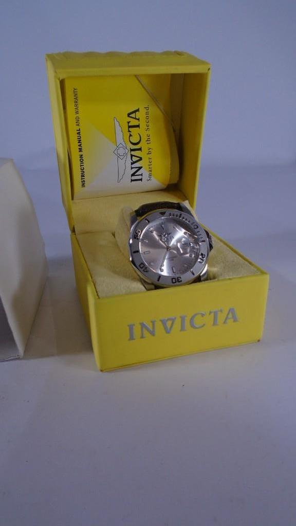 Invicta Watch #008 Lizard Band in Box with Book Looks New