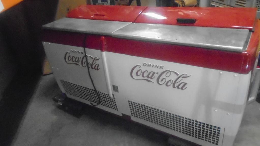 Lot: CGD-C Large Coke Coca-Cola Fridge Beverage Chiller Cooler