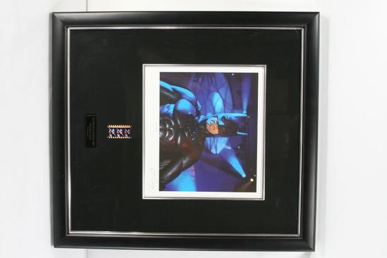 Framed Senigraph with 3 Frames of Film and George Clooney Autograph with Certificate of Authenticity