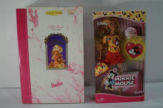 Barbie Doll Grecian Goddess and Minnie Mouse Barbie Doll