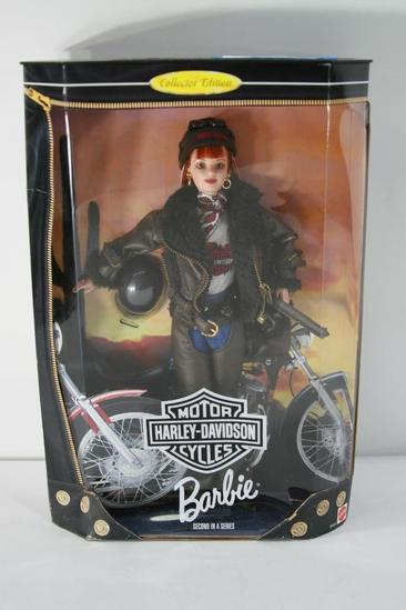 Barbie Year 1998 Motorcycles Harley-Davidson 2nd In A Series 12 Inch Doll Set with Barbie Doll