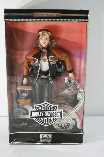 Harley Davidson Barbie Doll Collector Edition # 4 w Back Pack (1999)