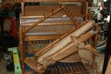 Large Wooden Loom with parts
