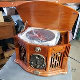 Thomas Pacconi Classics Retro Radio, table top and cassette player 11 inches wide 12 inches tall 13