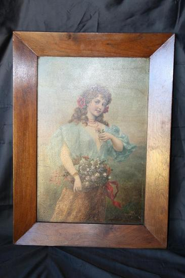 "Framed Art 24"" tall 18: Wide F Hifter Wooden Back"