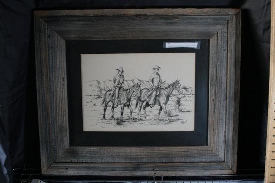 Charcoal Drawing by John French 1937. 23 x 28""